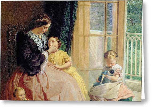 Mrs Hicks Mary Rosa and Elgar Greeting Card by George Elgar Hicks