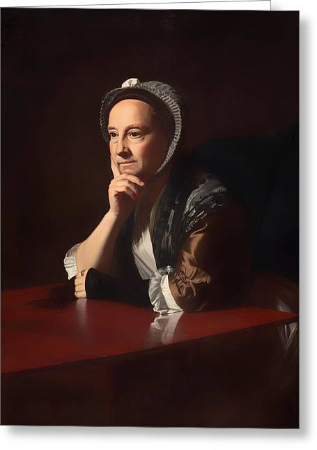 Chin On Hand Greeting Cards - Mrs Humphrey Devereaux  Greeting Card by John Copley