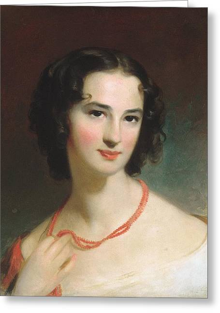 Sully Greeting Cards - Mrs. James Montgomery Greeting Card by Thomas Sully
