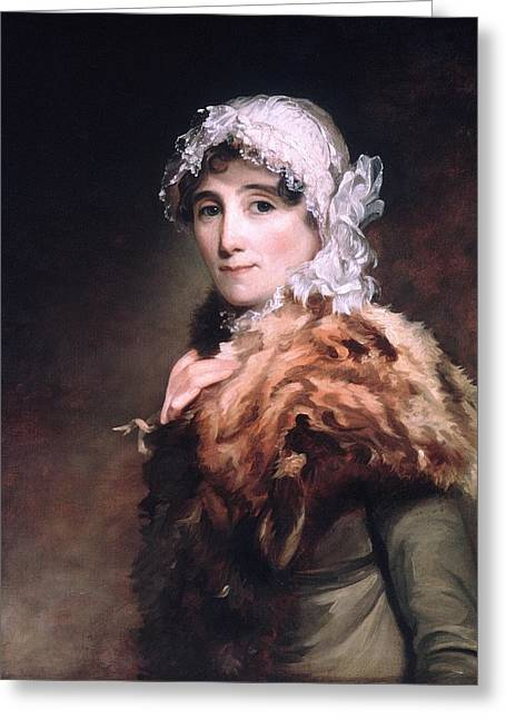 Sully Greeting Cards - Mrs Katherine Matthews Greeting Card by Thomas Sully