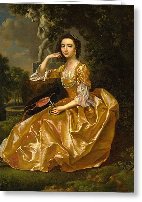 Francis Greeting Cards - Mrs. Mary Chauncey Greeting Card by Francis Hayman