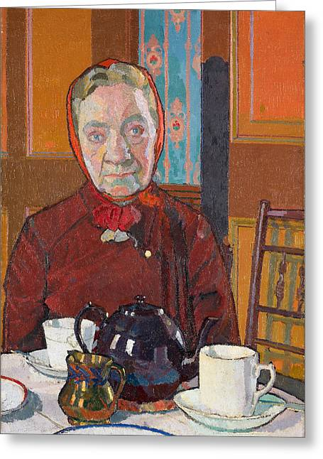 Gilman Greeting Cards - Mrs Mounter Greeting Card by Harold Gilman