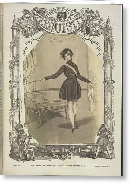 Mrs Nesbit Greeting Card by British Library