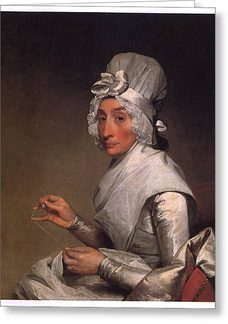 Mrs. Richard Greeting Cards - Mrs Richard Yates Greeting Card by Gilbert Stuart