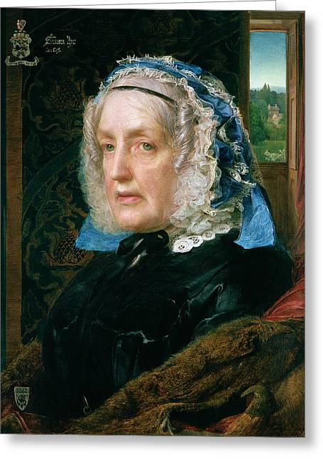Grandmother Greeting Cards - Mrs. Rose Greeting Card by Anthony Frederick Augustus Sandys