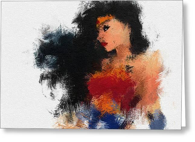 Wonder Woman Greeting Cards - Mrs. Wonder Greeting Card by Miranda Sether