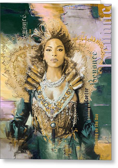 Contemporary Art Paintings Greeting Cards - Mrs.Carter Show Poster - B Greeting Card by Corporate Art Task Force