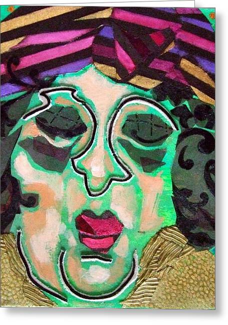 Recently Sold -  - Diane Fine Greeting Cards - Mrs.Eisenberg Greeting Card by Diane Fine