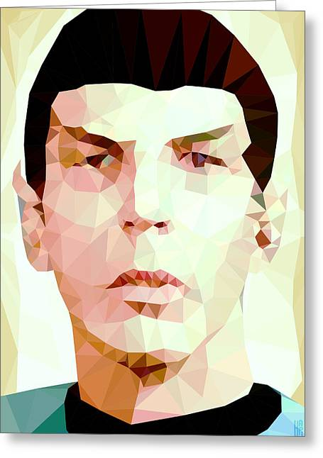 Nimoy Greeting Cards - Mr.Spock Greeting Card by Daniel Hapi