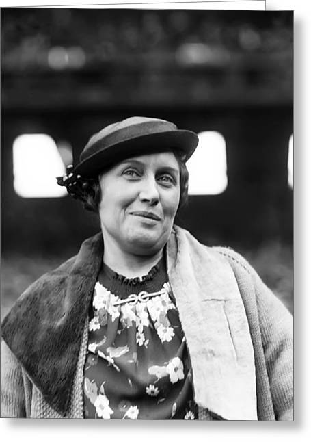 Female Athletics Greeting Cards - Mrs.Russell A. Lena Blackburne Greeting Card by Retro Images Archive