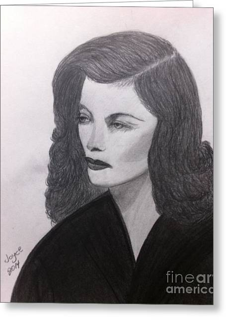 Katharine Hepburn Greeting Card by Joyce Lawhorn