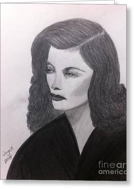 Movie Pastels Greeting Cards - Katharine Hepburn Greeting Card by Joyce Lawhorn
