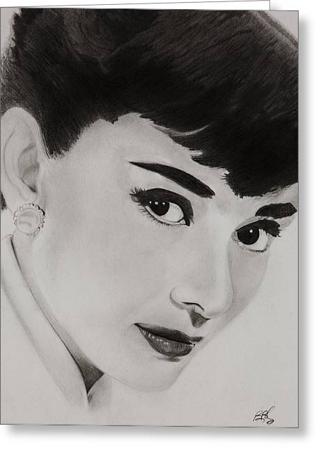Ms Hepburn Greeting Card by Brian Broadway