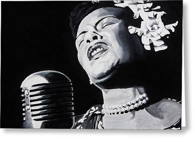 Billie Holiday Greeting Cards - Ms Holiday Greeting Card by Brian Broadway