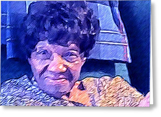 Abstract Digital Mixed Media Greeting Cards - Ms. Virginia II Greeting Card by Jacqueline Lloyd