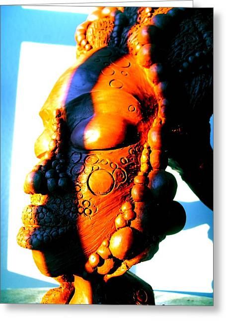 Meditation Sculptures Greeting Cards - Ms.Blue Greeting Card by Donna Lee Bolden Kerr