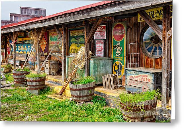 Mt. Airy Greeting Cards - Mt. Airy Old Country Store I Greeting Card by Dan Carmichael