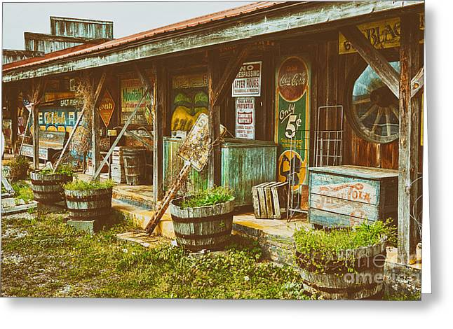Mt. Airy Greeting Cards - Mt. Airy Old Country Store II Greeting Card by Dan Carmichael