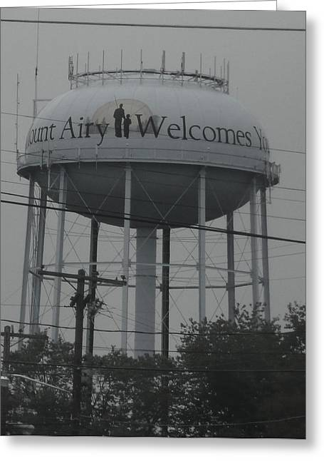 Mt. Airy Greeting Cards - Mt. Airy Water Tower Greeting Card by Barb Montanye Meseroll