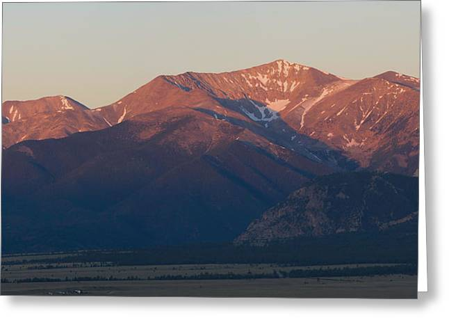 Arkansas Greeting Cards - Mt. Antero Sunrise Greeting Card by Aaron Spong