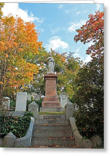 Auburn Ma Greeting Cards - Mt Auburn Cemetery 1 Greeting Card by Michael Saunders