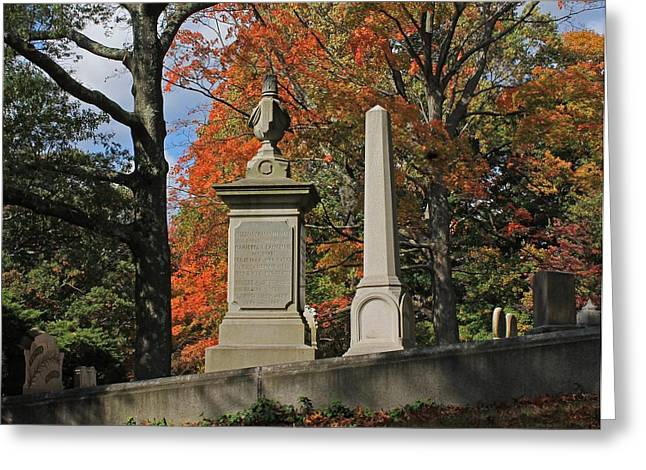 Auburn Ma Greeting Cards - Mt Auburn Cemetery 10 Greeting Card by Michael Saunders