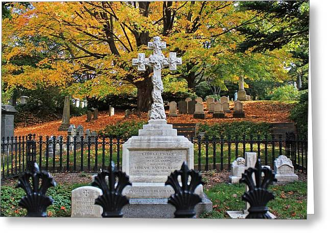 Auburn Ma Greeting Cards - Mt Auburn Cemetery 11 Greeting Card by Michael Saunders