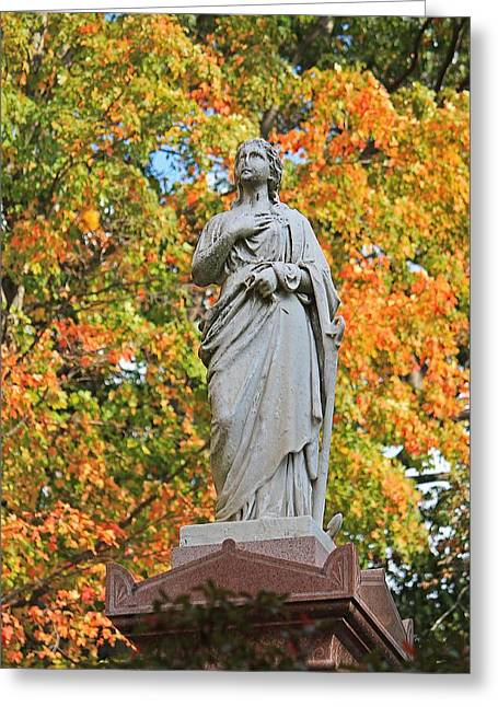 Auburn Ma Greeting Cards - Mt Auburn Cemetery 4 Greeting Card by Michael Saunders