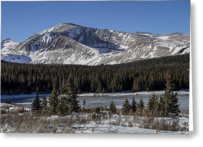 13er Greeting Cards - Mt. Audubon Greeting Card by Aaron Spong