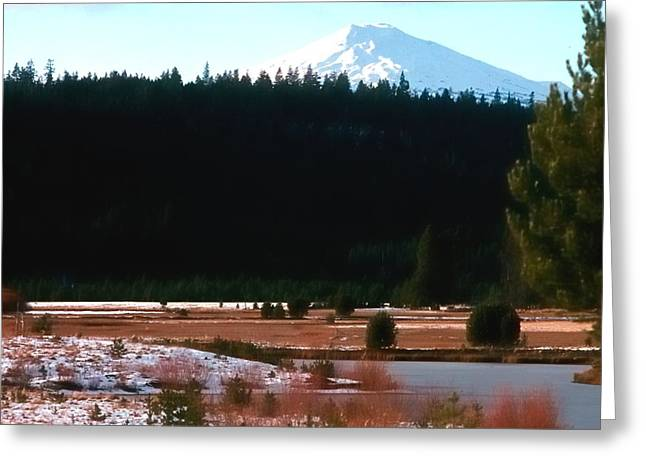 Lamdscape Greeting Cards - Mt Bachelor 1144 2 Greeting Card by Jerry Sodorff