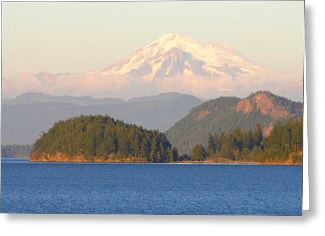 South Puget Sound Greeting Cards - Mt Baker Greeting Card by Brian Harig