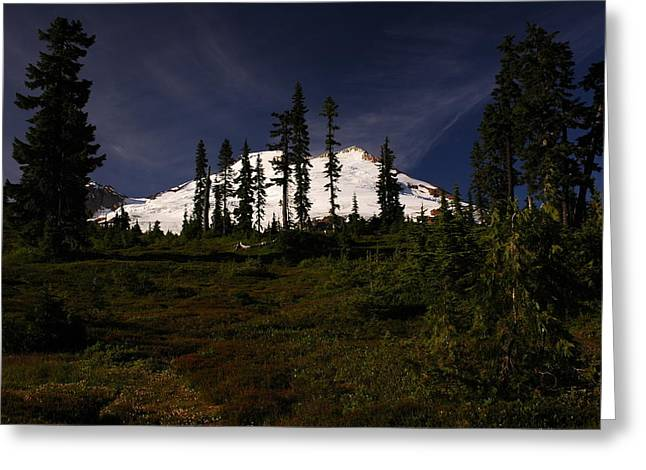 White Slacks Greeting Cards - Mt. Baker  Greeting Card by Michael French