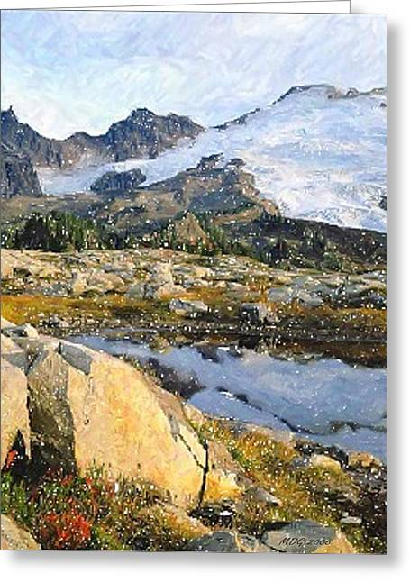 Mt Pastels Greeting Cards - Mt Baker Washington State Greeting Card by Olde Time  Mercantile