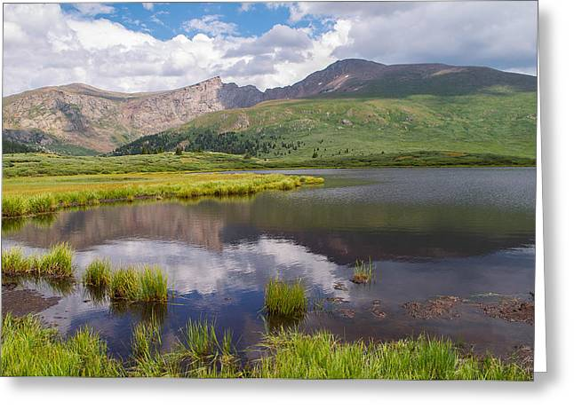Recently Sold -  - Reflection In Water Greeting Cards - Mt. Bierstadt Greeting Card by Aaron Spong