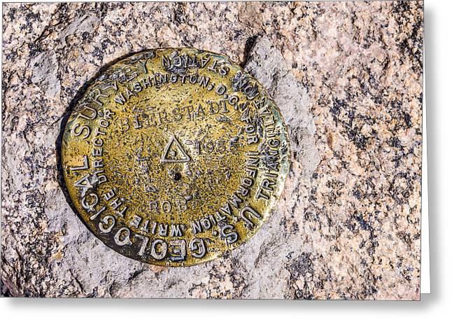 Bierstadt Greeting Cards - Mt. Bierstadt Survey Marker Greeting Card by Aaron Spong