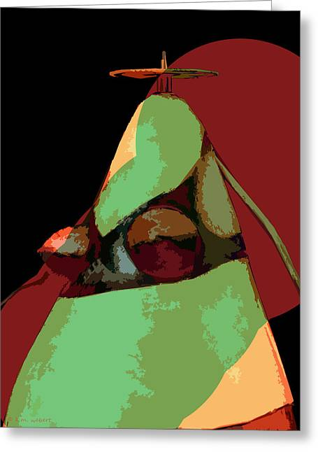 Woman Torso Photograph Greeting Cards - Mt. Bra-Zier Greeting Card by Kim Webert
