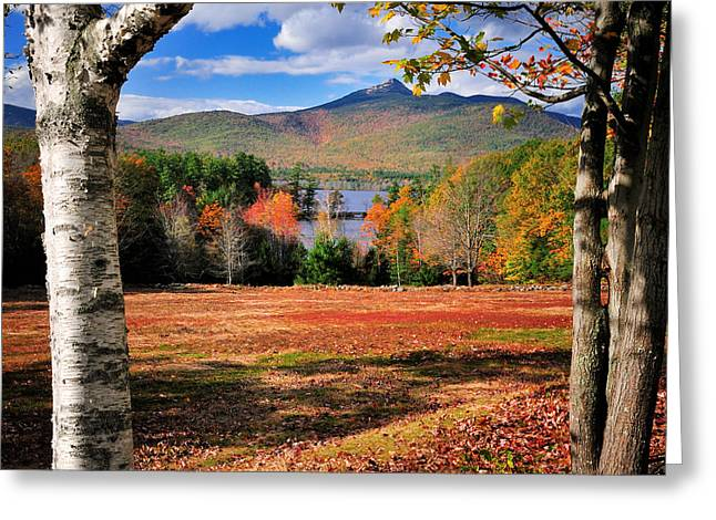 New Hampshire Greeting Cards - Mt Chocorua - A New Hampshire scenic Greeting Card by Thomas Schoeller