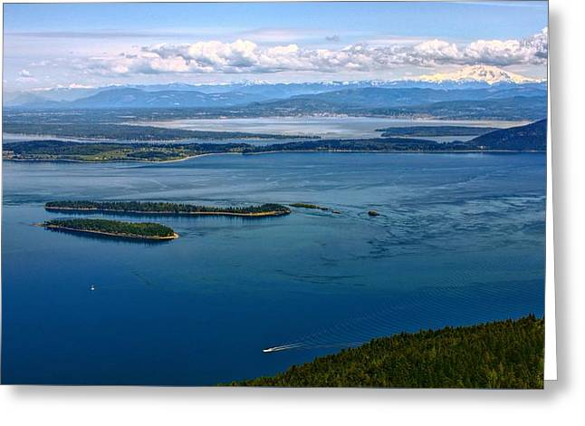 Ocean Panorama Greeting Cards - Mt Constitution View Greeting Card by Rick Lawler