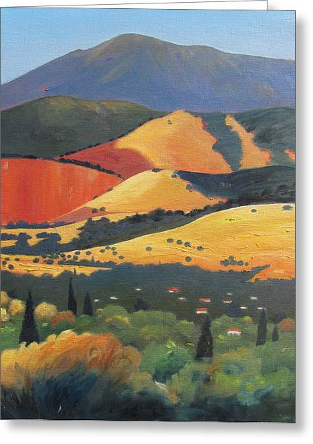 Tuscan Sunset Greeting Cards - Mt. Diablo 1 Greeting Card by Gary Coleman