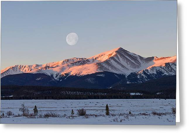 Copyrighted Greeting Cards - Mt. Elbert Sunrise Greeting Card by Aaron Spong