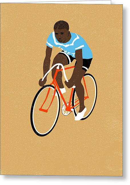 Bike Race Greeting Cards - Mt Greeting Card by Eliza Southwood