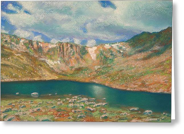 Soft Pastel Greeting Cards - Mt. Evans Greeting Card by Abbie Groves
