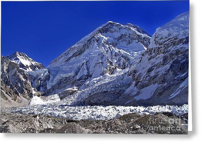 Mt Everest Base Camp Greeting Cards - Mt Everest Base Camp Greeting Card by Tim Hester