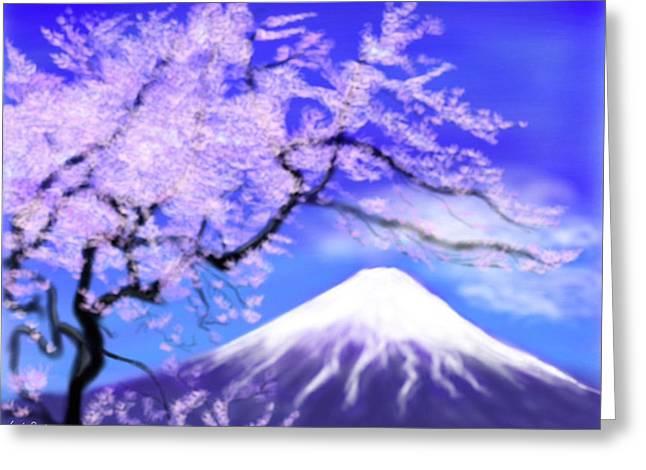 Yoshiyuki Uchida Greeting Cards - Mt Fuji 33 Greeting Card by Yoshiyuki Uchida