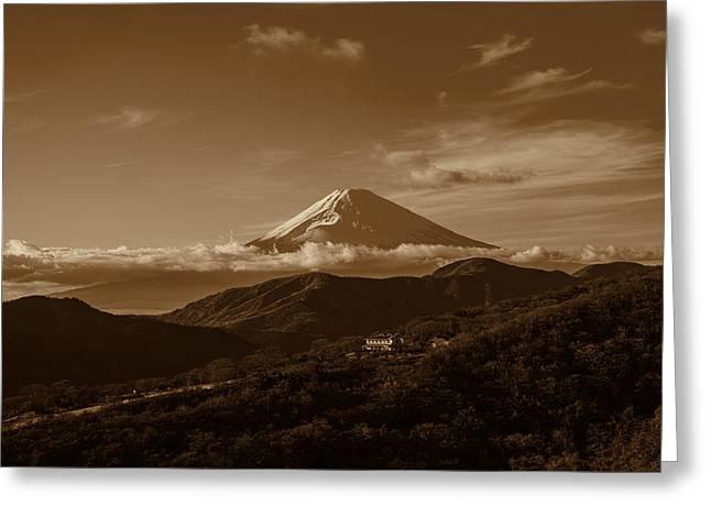 Mt Digital Greeting Cards - Mt. Fuji seen from Hakone Greeting Card by Brady Barrineau
