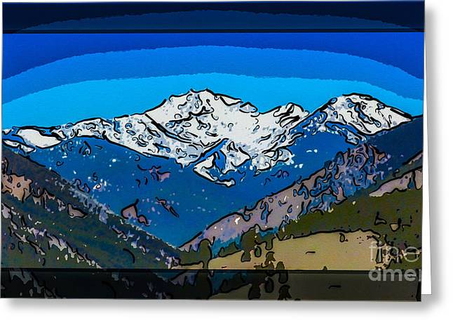 Methow Greeting Cards - Mt Gardner in the Spring Abstract Painting  Greeting Card by Omaste Witkowski