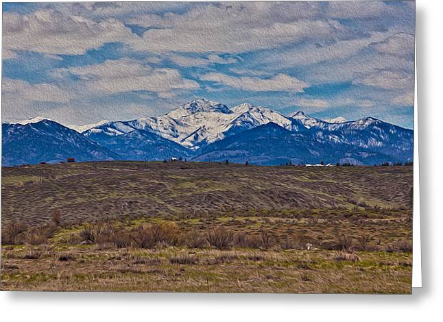 Okanogan National Forest Digital Greeting Cards - Mt Gardner in the Springtime Greeting Card by Omaste Witkowski
