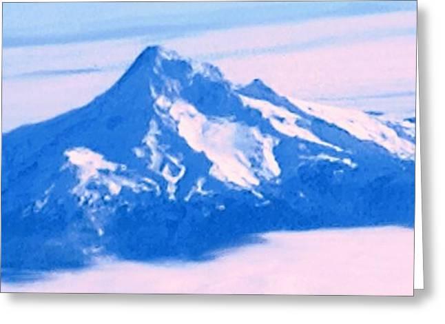Mt Digital Greeting Cards - Mt. Hood Blues  Greeting Card by Nick Gustafson
