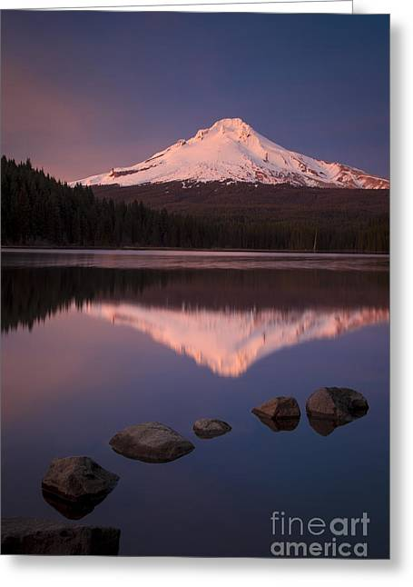 Mt Hood Reflection Greeting Card by Brian Jannsen