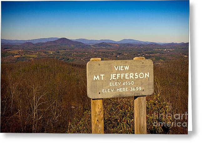 Ble Sky Greeting Cards - Mt Jefferson View Greeting Card by Les Palenik